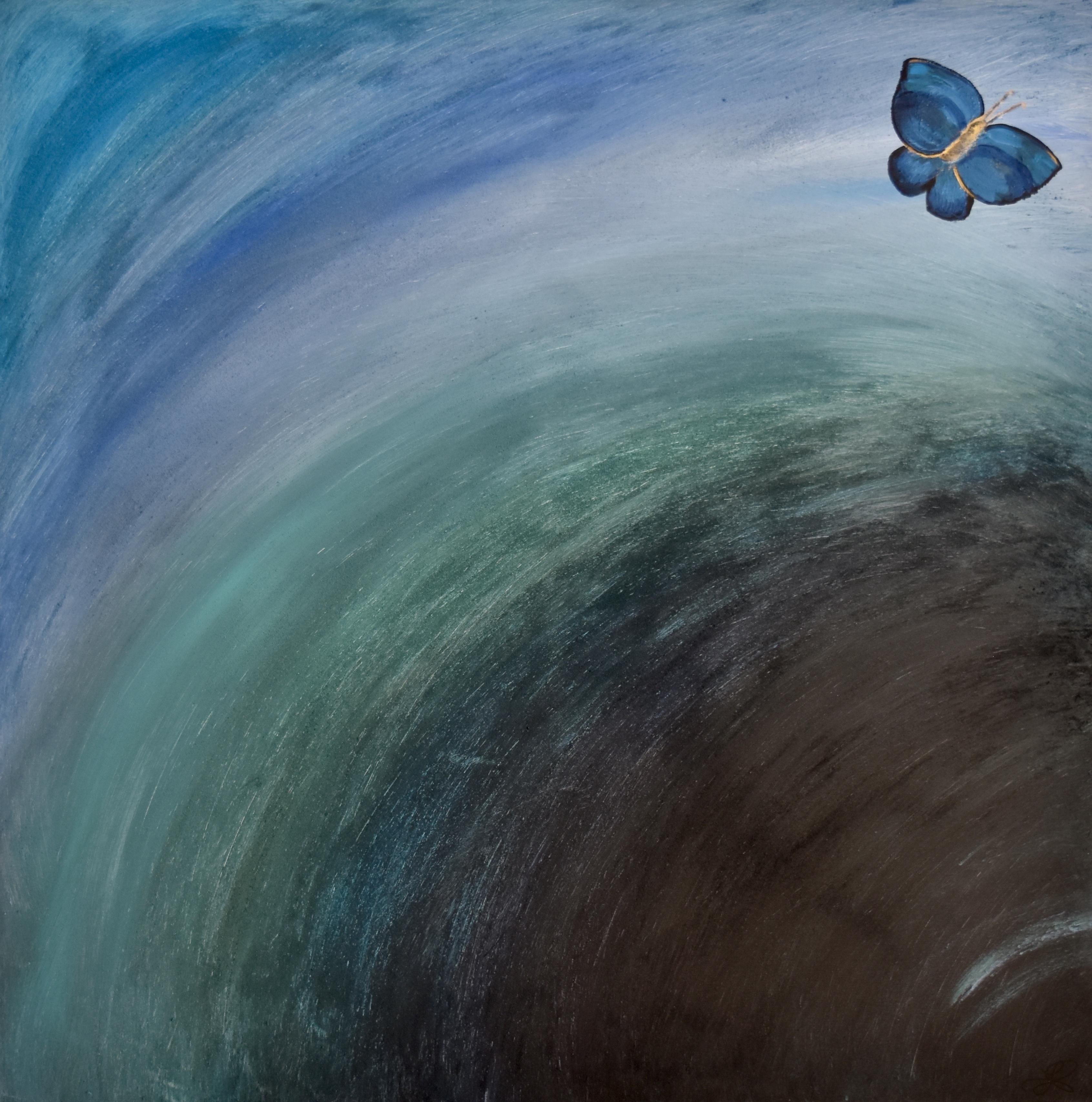 """Photo de """"Deep blue power"""", tableau de J. Schallenberger"""