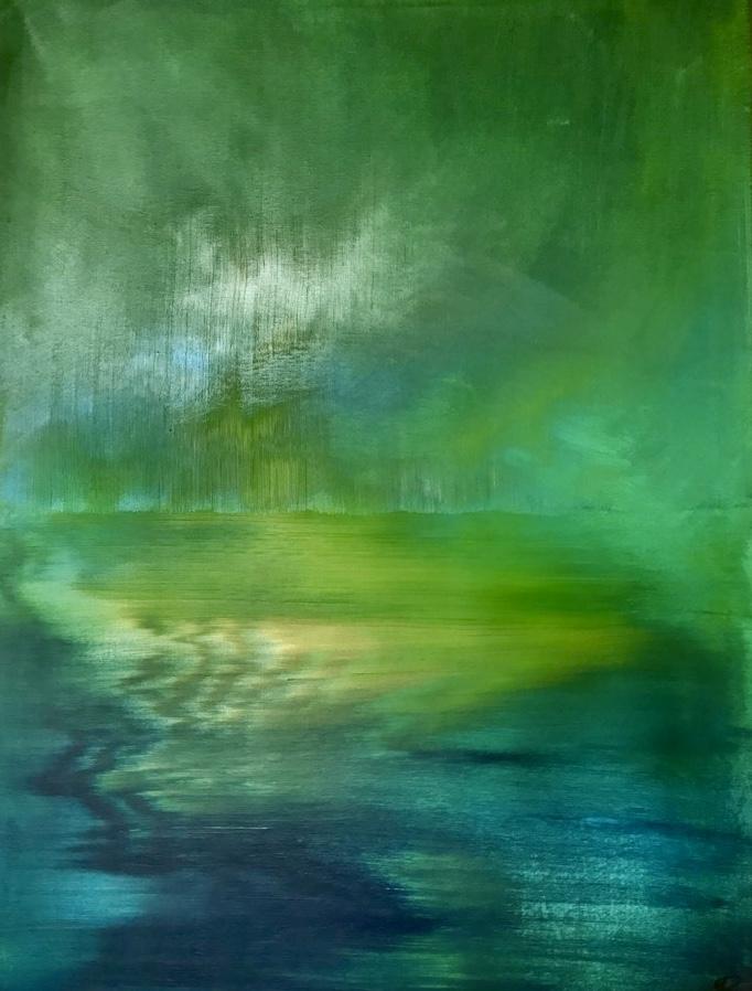 """Photo de la peinture """"Vibration"""""""